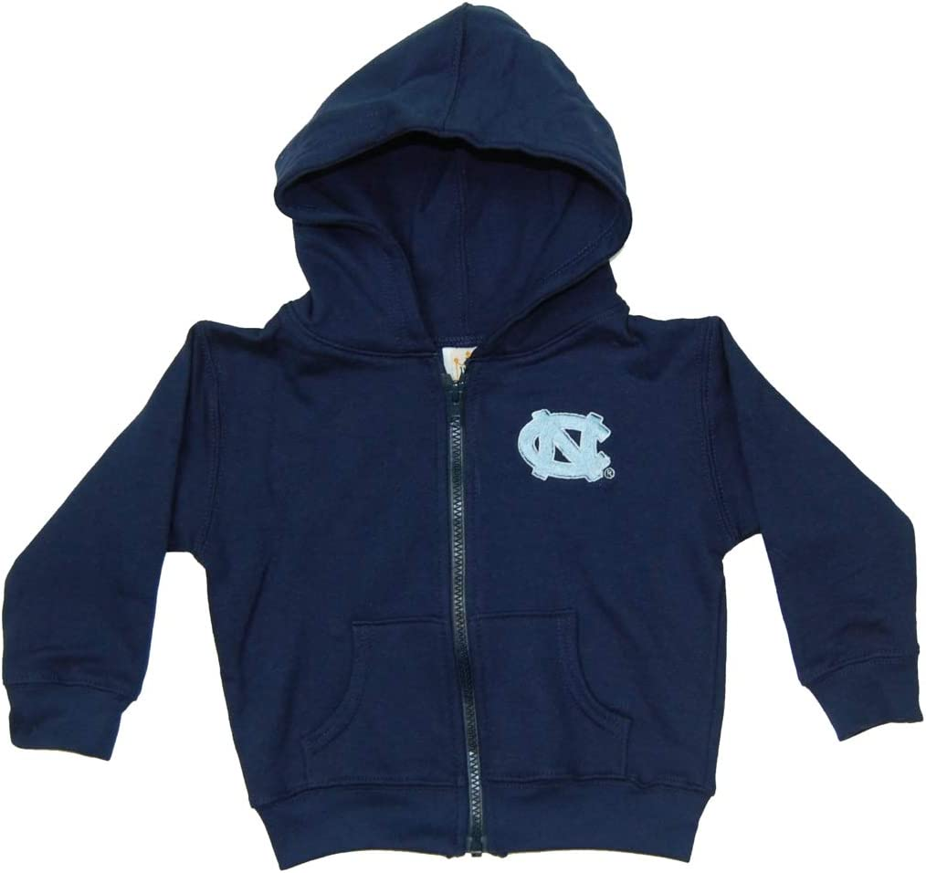 Little King NCAA Youth Boys//Girls Toddler Full Zip Hoody Sweatshirt with Pockets