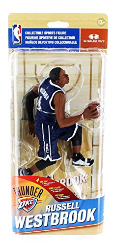 Oklahoma City Thunder NBA Series 29 Collectible Figure: Russell Westbrook (Blue Uniform Silver Variant)