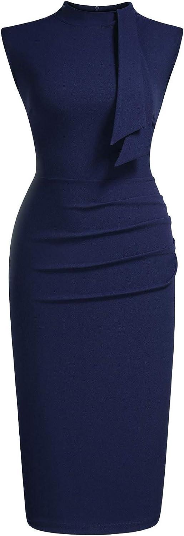 Miusol Lápiz Corbata Fiesta Oficina Vestido para Mujer: Amazon.es ...