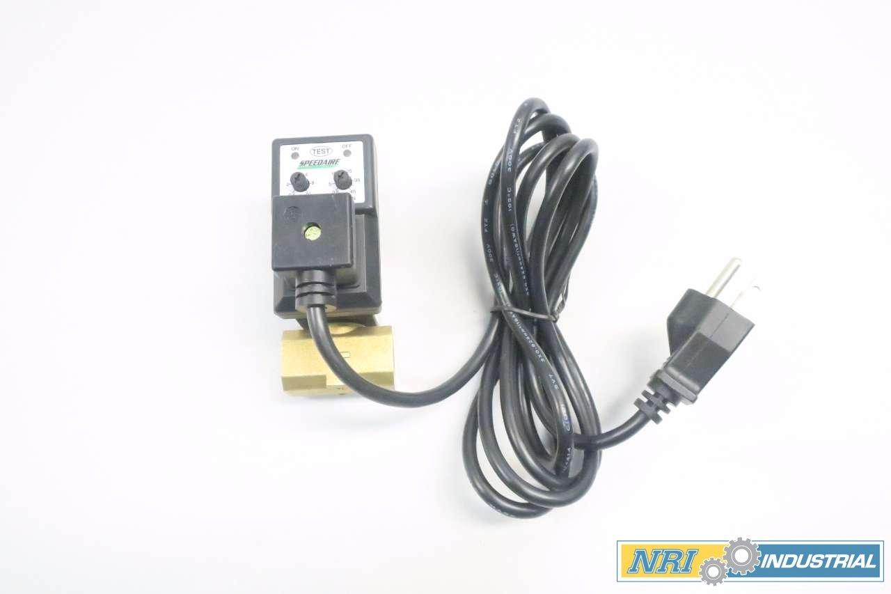 NEW SPEEDAIRE 13X528 120V-AC 1//2 IN NPT SOLENOID DRAIN VALVE D550449