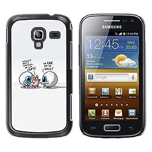 TaiTech / Prima Delgada SLIM Casa Carcasa Funda Case Bandera Cover Armor Shell PC / Aliminium - Abstract Eyes - Samsung Galaxy Ace 2