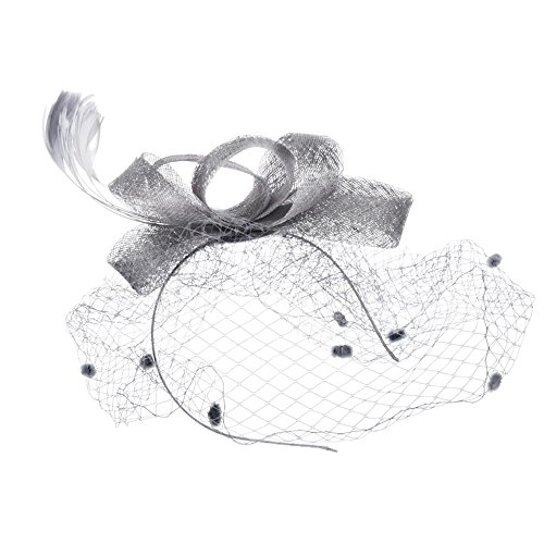 Fascinators Hat Flower Mesh Votron Ribbons Feathers Headdress and a Clip Tea Party Headwear for Girls and Women ()