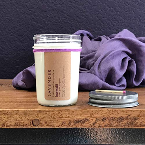 Soothing and relaxing lavender candle
