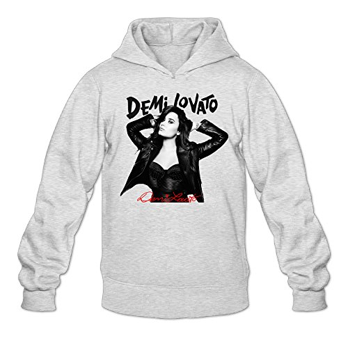 YQUE Men's Demi Singer Lovato Poster Hoodies Sweater Size XX