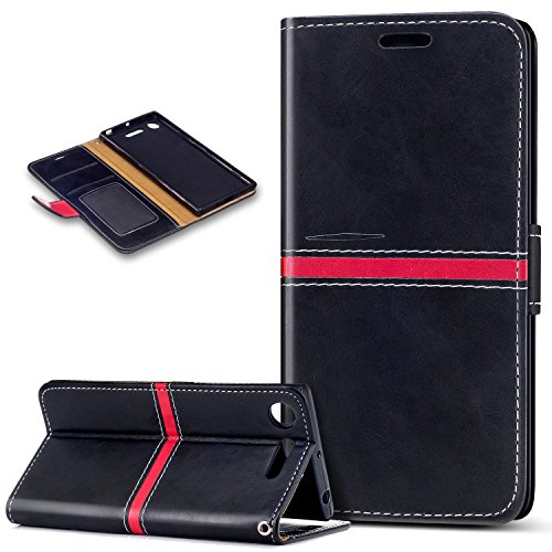 Sony Xperia XZ1 Case,Sony Xperia XZ1 Cover,ikasus Premium PU Leather Fold Wallet...