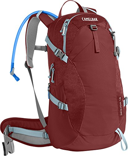 CamelBak Women's Sequoia 18 Crux Reservoir Hydration Pack, Red Dhalia/Stone Blue, 3 L/100 oz