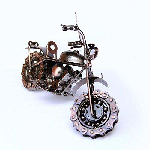 Trebisky Collectible Art Sculpture Die Cast Harley Davidson Scrap Metal Motorcycle (Copper ()