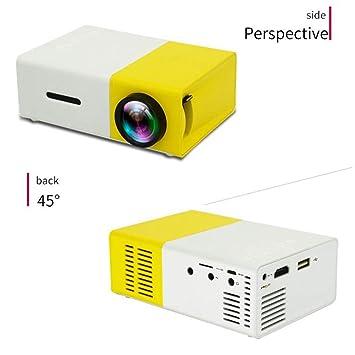 WHLDCD Proyector Proyector LED 600 lúmenes HD 320x240 Píxeles USB ...