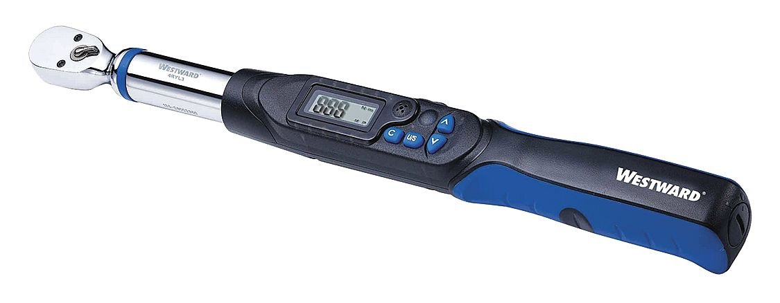 Electronic 3//8 Dr Fixed Westward 4RYL3 Torque Wrench