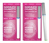Harmless Cigarette | New Smoking Cessation Product To Help You Quit Smoking Easy And Naturally. Now Better Than Patches, Gum, Pills, Spray, Lozenges, Tea, and Magnet. (2 Pack, Mixed Berry)