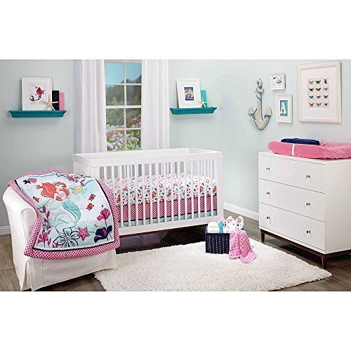 Disney-The-Little-Mermaid-Ariel-Sea-Treasures-3-Piece-Crib-Bedding-Set