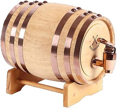 Opinión sobre SS mutong Barril de Roble Dispensador de Agua de Barril de Roble for Guardar su Propio Whisky, Cerveza, Vino, borbón, Brandy, Salsa Caliente y más Vino, Cerveza, Sidra, Whisky. (Color : A, Size : 3L)