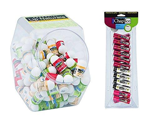 Chap-Ice Assorted Lip Balm (Pack of 24) + Lip Naturals Lip Balm (100 ()