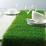 easter table decorations Efavormart Artificial Grass Table Runner for Table Decoration