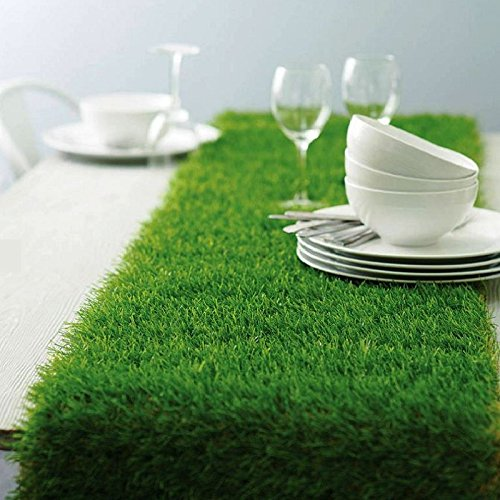 Tableclothsfactory Artificial Grass Table Runner for Table Decoration -