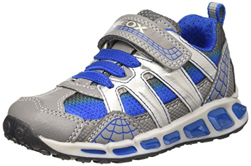 Geox Shuttle Boy a, Zapatillas Para Niños Grau (GREY/ROYALC0069)
