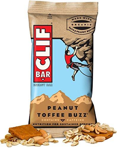 CLIF ENERGY BAR 48 Count, BYaEAps Peanut Toffee Buzz