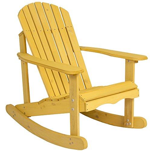 Mission Glider Rocker (Angelwing Rocking Chair Wood Natural Cedar Deck Outdoor Garden Furniture)