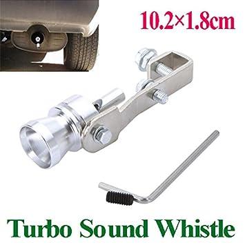 ryadia (TM) Universal Turbo sonido de escape Silenciador Pipe Silbato/Fake blow-off BOV simulador Whistler tamaño S 10,2 * 1.8 cm: Amazon.es: Coche y moto