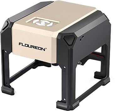 Grabador Láser,FLOUREON Impresora Láser Portátil 3000mW para ...