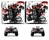 Cosines PS4 Slim Stickers Vinyl Decal Protective Console Skins Cover for Sony Playstation 4 Slim and 2 Controllers Call of Duty Ghosts