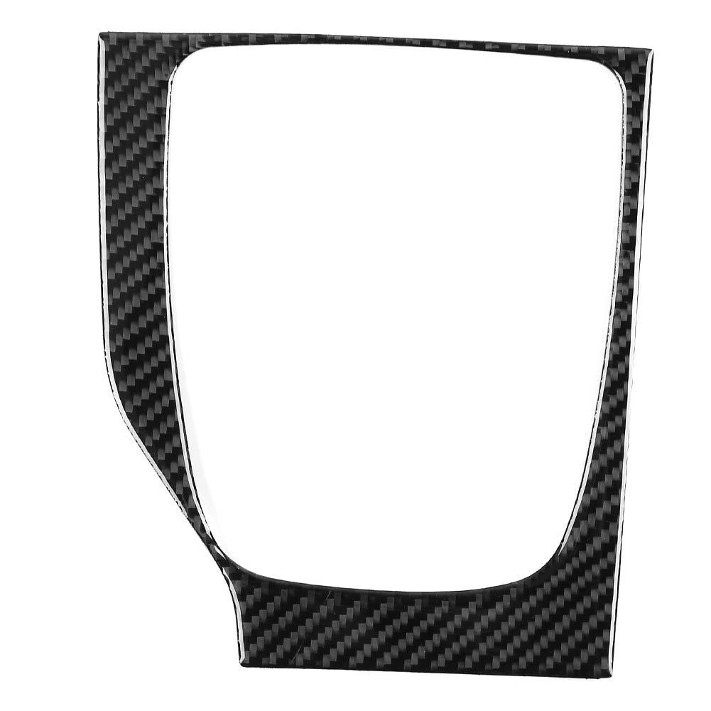 Gear Shift Panel Cover,Carbon Fiber Car Manual Gear Shift Panel Trim Cover Frame for Mazda Axela 2017-2018 by Aramox