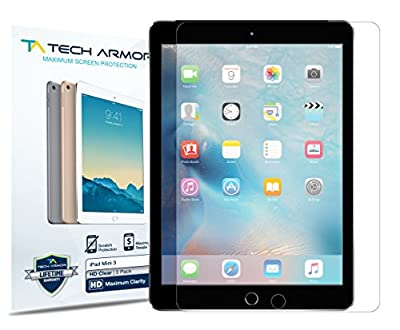 iPad Mini Screen Protector, Tech Armor High Definition HD-Clear Apple iPad Mini 1 / 2 / 3 Film Screen Protector [3-Pack]
