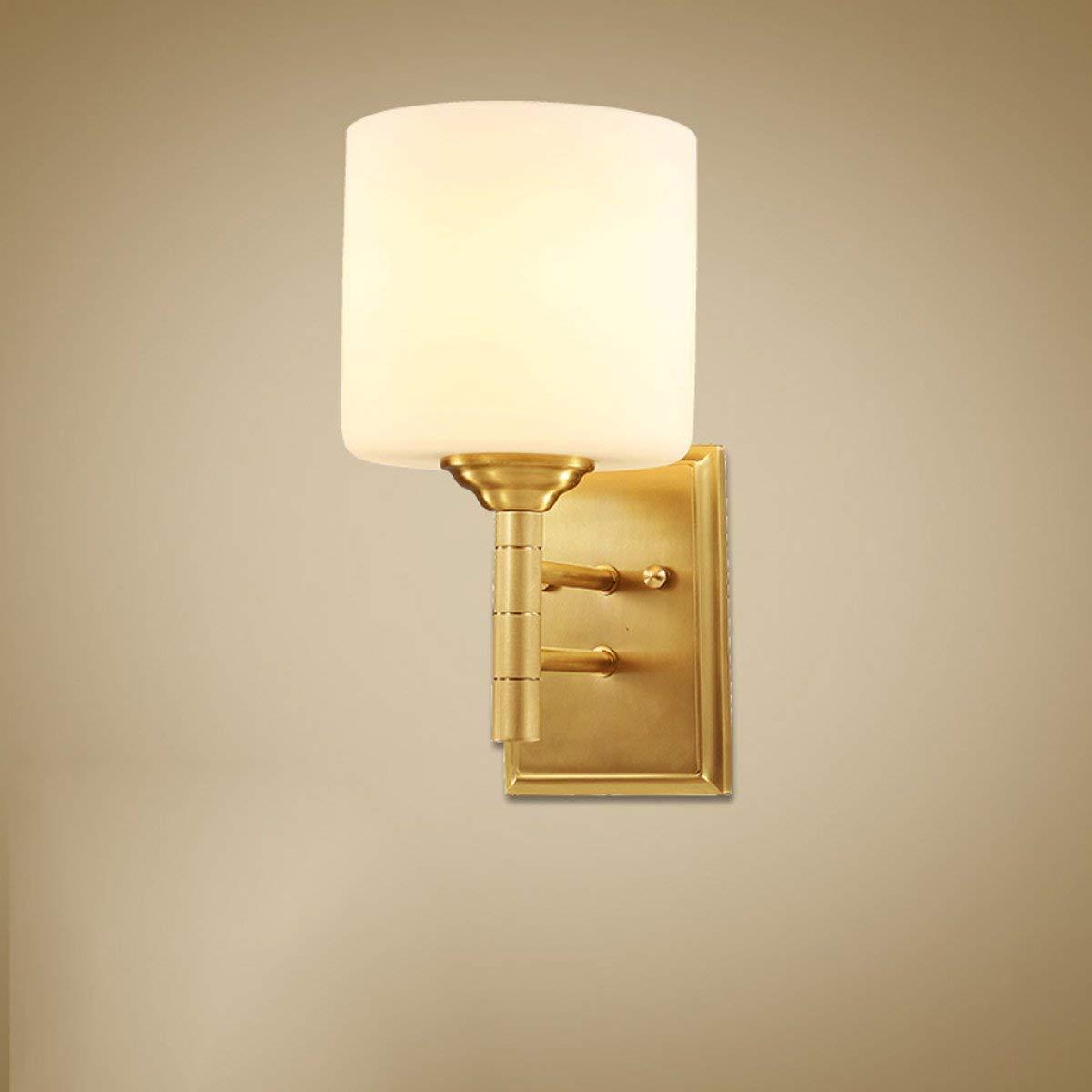 JJD アメリカのフル銅ウォールランプリビングルームのウォールランプ寝室のウォールランプ通路ウォールランプE27光源   B07S9KV8F3