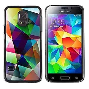 Paccase / SLIM PC / Aliminium Casa Carcasa Funda Case Cover para - Art Shapes Pastel Bright - Samsung Galaxy S5 Mini, SM-G800, NOT S5 REGULAR!