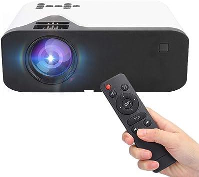 Opinión sobre Proyector LED HD, Proyector de Cine en casa en Blanco y Negro, Puerto USB/AV/HDMI/VGA Lavado Desmontable(European regulations)