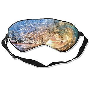 Sleep Mask Hawaii Eye Cover Blackout Eye Masks,Soothing Puffy Eyes,Dark Circles,Stress,Breathable Blindfold For Women Men