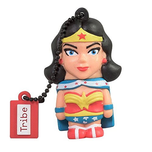 Funny Superhero Ideas (Tribe DC Comics Warner Bros. Pendrive Figure 16 GB Funny USB Flash Drive 2.0, Keyholder Key Ring, Wonder Woman (FD031503))