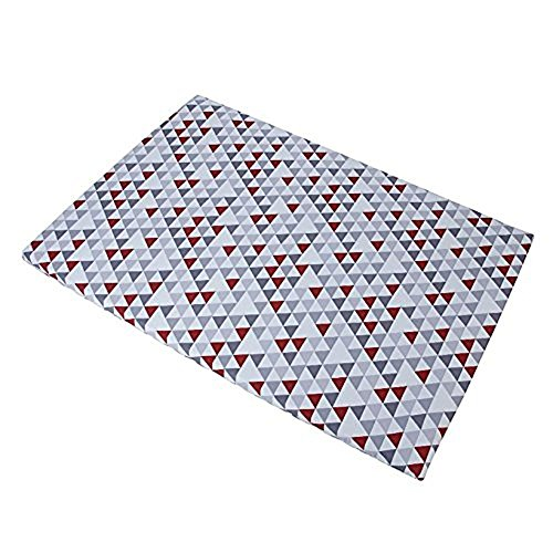 Crown Crafts Baby Trend Grey/red/white Hidden Pyramid Play Yard Sheet