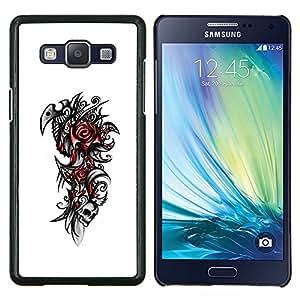 "For Samsung Galaxy A5 ( A5000 ) 2014 Version , S-type Rose del cráneo tribal"" - Arte & diseño plástico duro Fundas Cover Cubre Hard Case Cover"