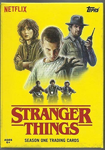 2018 Topps Stranger Things Season 1 Complete Hand Collated Netflix Series 100 Trading Card Collectible Set AND OPENED EMPTY COLLECTOR'S BOX (Great to store set in) with FREE SHIPPING IN THE USA from Stranger Things