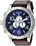 Nixon Men's '51-30 Chrono' Quartz Stainless Steel and Leather Watch, Color:Brown (Model: A124-2301-00)