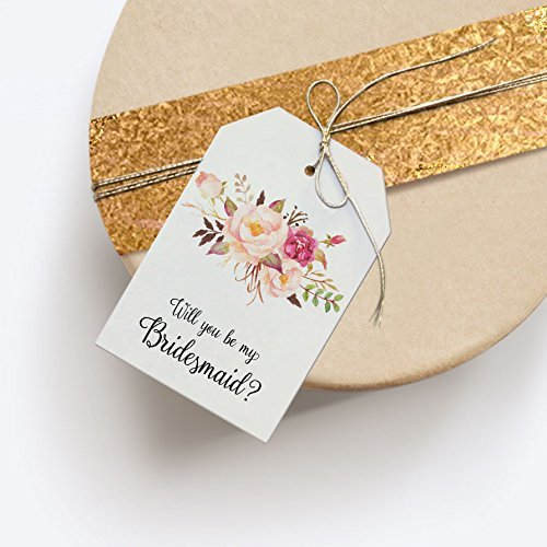 Amazon Com Will You Be My Bridesmaid Gift Tag Bridesmaid Box