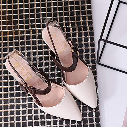 los Talones Sandalias Gruesas Nocturno de de Vestido del Club Ocasional Verano Lujo Partido de Zapatos Mujeres los señoras Las de Diseño del Las de Altos Respirable Talones del 84B0wqPPW