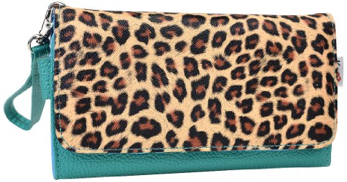 kroo-clutch-wristlet-wallet-for-5-inch-smartphones-retail-packaging-green-with-brown-leopard-spots
