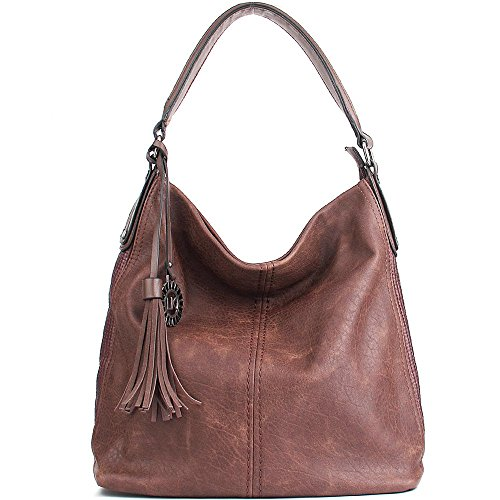Women Handbags UTAKE Shoulder Bags Hobo Handbags for Women PU Leather Large Capacity 2pcs (Purse Pocket Book)