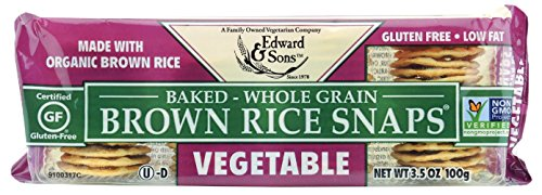 Brown Rice Snaps, Vegetable with Organic Brown Rice, 3.5-Ounce Packs (Pack of 6)