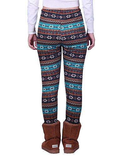 a9718249e30 HDE Women's Winter Leggings Warm Fleece Lined Thermal High Waist Patterned  Pants