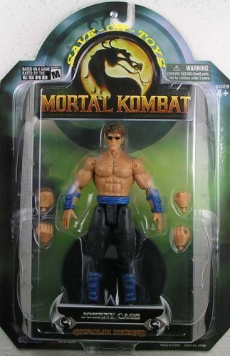 Mortal Kombat Shaolin Monks Series 3 Action Figure Johnny Cage by Jazwares, Inc.
