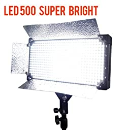 LimoStudio Photo Video Studio Lighting 500 LED Video Continuous Lighitng Panel, AGG978
