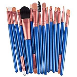 15 pcs Makeup Brush Set tools Make-up Toiletry Kit Wool Make Up Brush Set