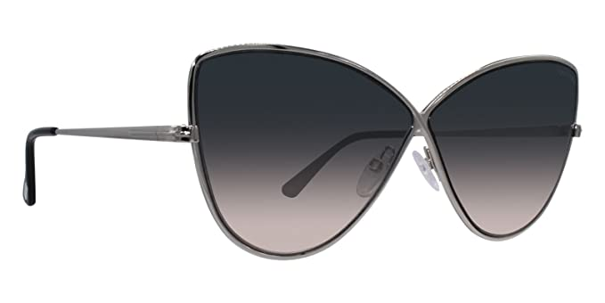 121c2a4d34c2 Image Unavailable. Image not available for. Color  Tom Ford ELISE-02 FT0569  16B Women Silver Metal Infinity Butterfly Sunglasses