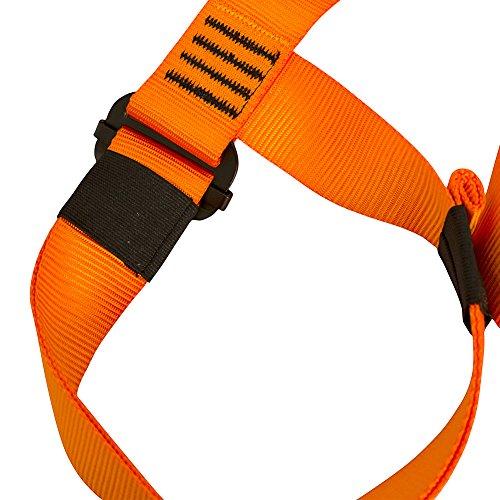 Fusion Climb Centaur Half Body Harness Orange M XL for Climbing Gym & Rope Course