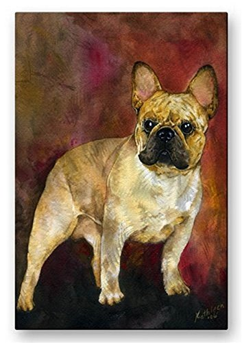 All My Walls Metal Abstract Modern Dog Painting Wall Art Hanging Sculpture French Bulldog (Bulldog Metal Sculpture)