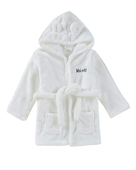 Pijamas con Capucha de Baño de Mangas Largas Albornoz Camisón Batas