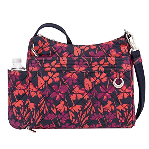 Travelon Women's Anti-theft Boho Square Cross Body Bag, Painted Floral